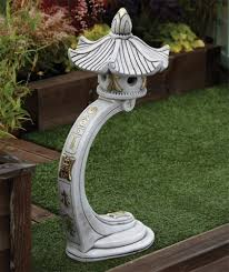 curved japanese pagoda lantern large garden ornament
