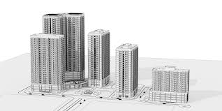 High Rise Residential Building Floor Plans by Detailed High Rise Building Complex 3d Model 3d Model Max Dxf