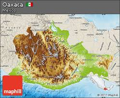 map of oaxaca mexico free physical map of oaxaca shaded relief outside