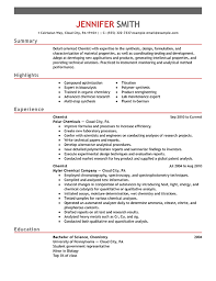 chemist resume samples amazing science resume examples to get you