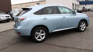 lexus suv 2010 sale 2010 lexus rx350 cerulean blue metallic stock 045793 walk
