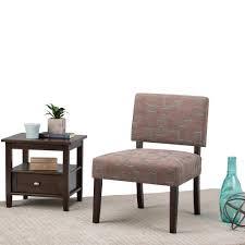 Chair Fabric Simpli Home Virginia Brown Fabric Slipper Chair Axcchr 005 3 The