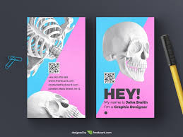 Free Business Card Designs Templates Skull Business Card Template Freebcard
