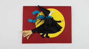 Halloween Invitation Card Halloween Greeting Card With A Witch Diy Papercraft Scrapbooking