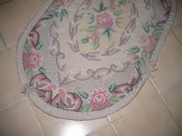 Latch Hook Rugs For Sale Vintage Latch Hook Yarn Thread Area Bathroom Kitchen Oval