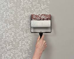 wall paint patterns diy idea paint roller printed walls apartment therapy
