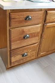 kitchen renovation cabinet stain and hardware diy staining