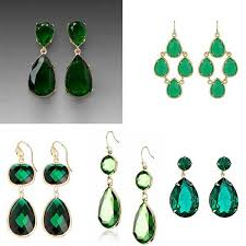 green earrings s green earrings for less