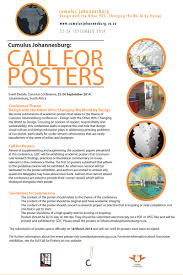 The Interior Design Institute South Africa Cumulus Johannesburg Call For Posters Iid The African