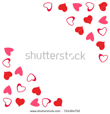 abstract love design hearts greeting cards stock vector 724243102