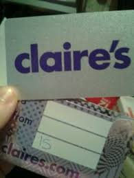 claires gift card free claires gift card 15 00 value look gift cards