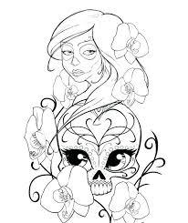 printable coloring pages sugar skulls sugar skull coloring pages sugar skulls coloring pages free