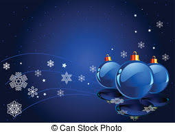 Blue Christmas Decorations Background by Vector Clipart Of Abstract Blue Christmas Background With