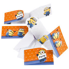 Minions Invitation Card Invitation Cards Amscan 997978 Pack Of 6 Pieces
