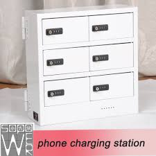 Device Charging Station Sopower Charging Box 6 Doors Emergency Cell Phone Charging Station