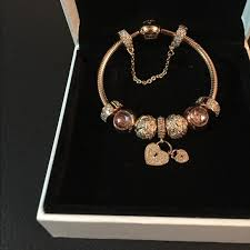 rose gold silver bracelet images Pandora jewelry full rose gold bracelet poshmark jpg