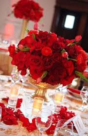 Red Rose Table Centerpieces by Red Decorations Decorations Red Roses For Valentine Day Wedding