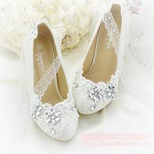 wedding shoes brands ivory flower applique rhinestone wedding shoes bead lace up