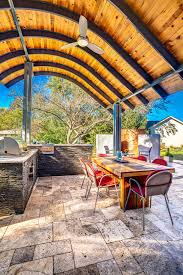 Outdoor Kitchens Ideas Pictures Patio With Modern Steel Roof And Outdoor Fireplace Hgtv Ultimate