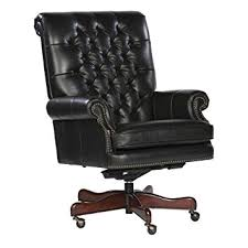 tufted leather desk chair amazon com tufted leather executive office chair color black