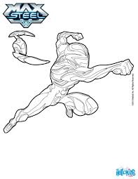 max steel against enemies coloring pages hellokids com