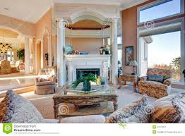 Large Living Room Furniture Amazing Rich Interior With Antique Furniture Royalty Free Stock