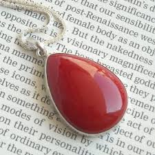red necklace jewelry images Buy red coral pendant coral silver jewelry coral pendant jpg