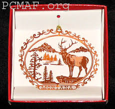 various montana ornaments in brass copper and gold montana