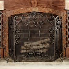 tempered glass fireplace screens design decor fancy on tempered