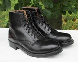 womens black combat boots size 9 combat boots mens 7 womens 9 black leather army boots marching