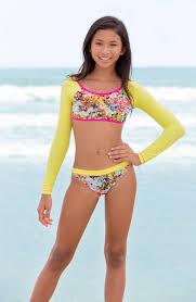 Young Little Girls Src   free shipping and returns on to the 9 s crop rashguard bikini big