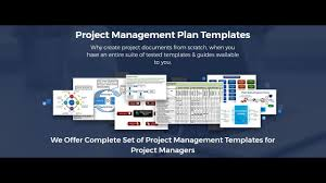 project management plan templates excel word pdf youtube