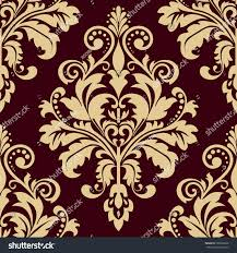 floral pattern wallpaper baroque damask seamless stock