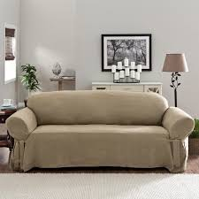 overstock sofa covers tailor fit relaxed fit smooth suede sofa slipcover free shipping