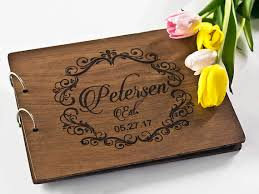 engravable wedding guest book wedding guest book engraved wedding guest book custom wedding