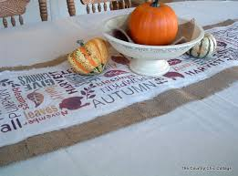 subway burlap table runner point of view the country chic