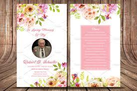 Funeral Card Template Funeral Prayer Card Template V555 Flyer Templates Creative Market