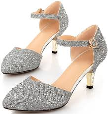 bridesmaid heels buy littleboutique vintage mid heel metallic dâ â osay pumps