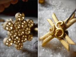 simple ornaments to make from ordinary pasta