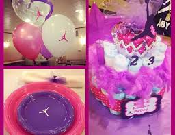 baby girl themes jumpman baby shower just a few random pics from baby girl