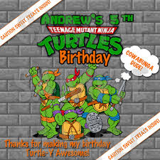 personalized pizza boxes personalized tmnt turtles boys birthday party printable