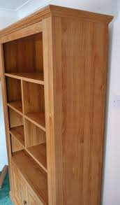 laminated light oak effect bookcase dresser 2 door cupboard
