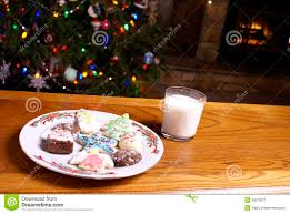 christmas cookies and milk christmas lights decoration