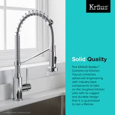 kraus commercial pre rinse chrome kitchen faucet kitchen faucet kraususa com