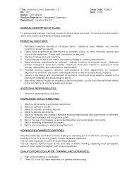 inventory specialist resume resume ideas