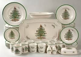 spode tree green trim 54 set at replacements ltd