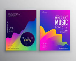 vibrant abstract music party event flyer poster template design