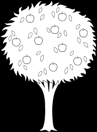 apple tree coloring pages amazing apple tree sketches drawings with apple tree coloring page