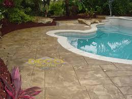 Concrete Slabs For Backyard by Decorative U0026 Stamped Concrete Driveway Patio U0026 Pool Pavers
