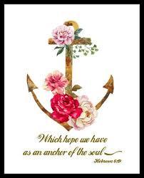 Anchor Print Inspirational Print Quot - scripture quote bible art prints paper rose cottage
